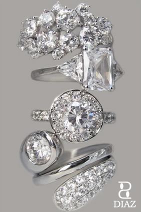 DIAZ gorgeous rings
